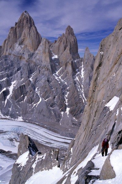 Climber on Cerro Torre